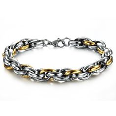 Superhai Multilayered Texture Titanium Steel Bracelet Handmade Gold *** Learn more @ http://www.amazon.com/gp/product/B01704P7CO/?tag=finejewelry4u.com-20&pij=070716054414