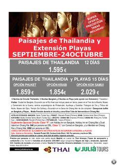 Paisajes de Thailandia y Ext. Playas Septiembre-24Octubre Thai 1.595€ Tasas Incluidas - http://zocotours.com/paisajes-de-thailandia-y-ext-playas-septiembre-24octubre-thai-1-595e-tasas-incluidas/