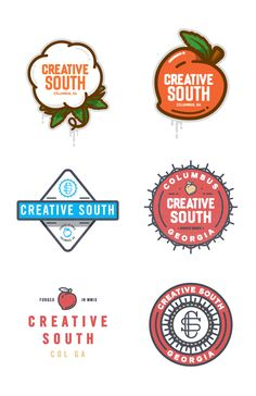 Creative South Peach & Cotton badge, by Nick Slater