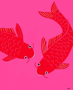 Happy Fish Art Print