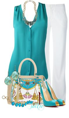 """White Bottoms"" by jackie22 ❤ liked on Polyvore"