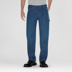 Dickies Men's Relaxed Straight Fit Denim Carpenter Jean-