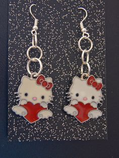 I Am Jewelry, Jewelry Shop, Jewelry Making, Unique Jewelry, Female Heroines, Valentine Heart, Just Kidding, Hello Kitty, Red And White