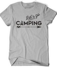 Camping T-Shirt T Shirt Tees Funny Ladies Girl Womens Men Gift Hiking Adventure Outside Pacific Northwest Climbing Hiker Trail Camp Campfire by BoooTees on Etsy