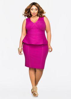 b67a8000 Bandage Skirt Bandage Skirt Peplum Dresses, Fashion Dresses, Plus Size  Peplum, Plus Size. ashleystewart.com