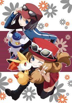 Pokemon XY X/Calem and Y/Serena