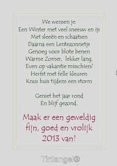 Gelukkig Nieuwjaar Diy Christmas Presents, Merry Christmas And Happy New Year, Christmas Time, Christmas Cards, Xmas, Laura Lee, Happy Wishes, New Year Wishes, Paint Colors For Living Room