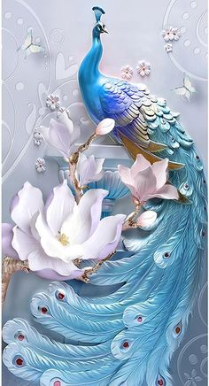 Natures Display Diamond Painting Natures Display Diamond Painting Diy Painting With Diamond Kit Untitled Artisan Peacock Wall Art, Peacock Painting, 3d Painting, Peacock Canvas, Peacock Pictures, Flower Phone Wallpaper, Wallpaper Pc, Painting Wallpaper, Beautiful Nature Wallpaper