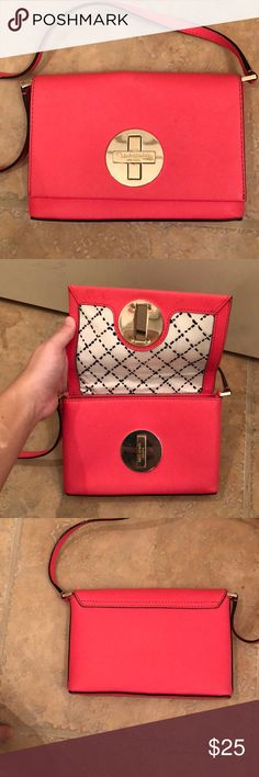 "Kate Spade Purse Kate Spade Crossbody Mini Purse - hits right at my waist (I'm 5'4"") - good condition (few small black marks on front) kate spade Bags"