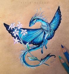 Cute Dragon Drawing, Dragon Sketch, Realistic Dragon Drawing, Cute Fantasy Creatures, Mythical Creatures Art, Creature Drawings, Animal Drawings, Fantasy Dragon, Fantasy Art