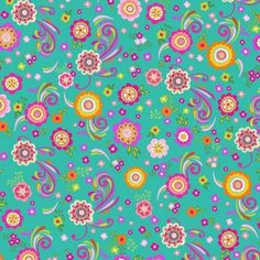 Feathers and Foliage Teal Flowers Fabric - Wilmington Prints - Teal Floral Fabric - Teal and Pink Fabric - By the Yard by CuddleCatQuiltworks on Etsy Pink Fabric, Floral Fabric, Fabric Flowers, Cotton Quilting Fabric, Cotton Quilts, Pink Chandelier, Teal And Pink, Teal Yellow, Orange