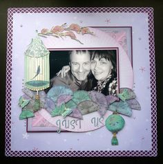 Karen Foy Layout using Sara Davies Butterfly Lullaby Collection and Kimono Pad