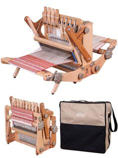 The Katie Loom is the perfect multi harness loom for workshops, sampling, travel and fun.• Portable – easy to fold and pack • Compact - 30cm (12ins) weaving wid