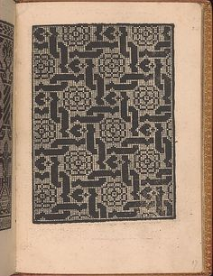 Published by Nicolo Zoppino, Italian, active 16th century, Venice, designed by Matteo da Treviso, Italian, active 16th century.<br/>From top to bottom, and left to right:<br/>Design is decorated with an interlace pattern of diamonds, each containing 4-petaled flower