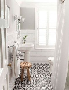 Cuarto de baño blanco (Small Bathroom)