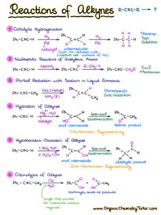 Reactions of Alkynes 1 Chemistry Class 12, Organic Chemistry Tutor, Organic Chemistry Reactions, Chemistry Help, Chemistry Study Guide, Chemistry Classroom, Chemistry Lessons, Teaching Chemistry, Chemistry Experiments