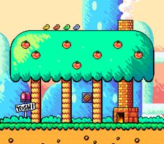Eto — Super Mario World with Yoshi's Island style. Super Mario World, Super Mario Bros, Super Mario All Stars, Super Star, Old Nintendo, Super Nintendo, Yoshi, Donkey Kong, Mega Man