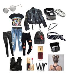 """""""Rock style #2"""" by sol-espina on Polyvore featuring moda, Jean-Paul Gaultier, Boohoo, Capezio, Swarovski, White House Black Market, MCM, Torrid, Yves Saint Laurent y Givenchy"""