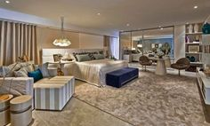 quartos de casal grandes mostra lider interiores