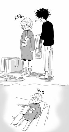 Love is an illusion by Fargo�� Manga Love, Anime Love, Bl Webtoon, Mpreg Anime, Chanbaek Fanart, Familia Anime, Cute Paintings, Cool Art Drawings, Anime Child