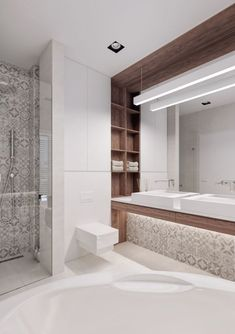 Amazing Modern Bathroom Design Ideas to Increase Home Values Modern Bathroom Tile, Bathroom Wall Decor, Bathroom Layout, Contemporary Bathrooms, Small Bathroom, Master Bathrooms, Bathroom Ideas, Bathroom Design Inspiration, Bad Inspiration
