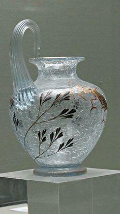 Émile Gallé, 1846-1904, Petit vase craquelé, c. 1880, musée de l'École de Nancy | Flickr - Photo Sharing!
