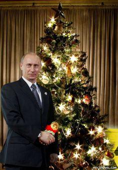 A Beautiful Christmas Photograph Of Our President ♡ Vladimir Putin ♡