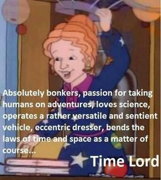 Miss Frizzle from the Magic school bus