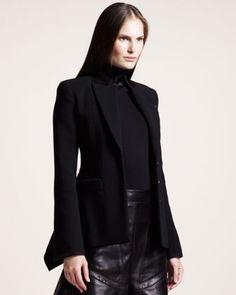 Velvet-Trim Jacket by Givenchy at Bergdorf Goodman.