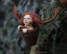 pixie girl Feli handmade decoration by chopoli on Etsy