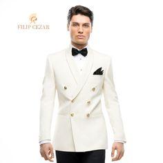 Costum de ceremonie Filip Cezar Double Ivory  http://www.filipcezar.com/ro/costume-barbati/286-costum-filip-cezar-double-ivory.html  #FilipCezar #Ivory #CostumeBarbati #Ceremonie #White #Bespoke #Tailor
