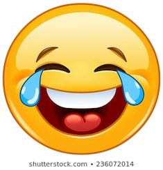 Laughing Emoticon With Tears Of Joy Royalty Free Cliparts, Vectors, And Stock Illustration.