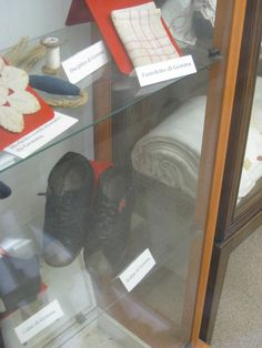 St Gemma's shoes and sewing items