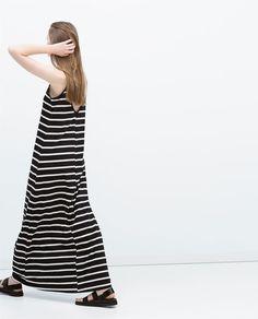 Image 4 of LONG STRIPED DRESS from Zara