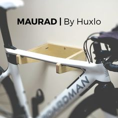MAURAD is a birch plywood bicycle wall mount. Bicycle Wall Mount, Beautiful, Design, Design Comics