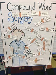 Compound Word Surgery in Kindergarten!