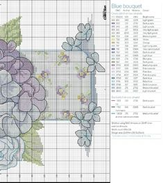 схема 2 вышивка букета цветов