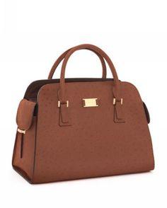 MICHAEL Michael Kors Gia Satchel Cinnamon Ostrich-Embossed Model: MK Handbags - 024 CAD$83.99 http://www.mkbags.org/