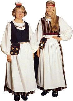 Folk Clothing, Historical Clothing, Traditional Fashion, Traditional Dresses, Folk Costume, Costumes, People Of The World, Helsinki, How To Wear