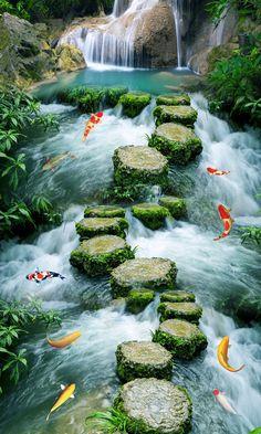 3D grandes Pegatinas de Pared de Piedra Camino Hacia El Piso Del Baño cuarto de baño de Pared 3D Mural Calcomanías Piso de Diseño Creativo para el Hogar Deco en Pegatinas de pared de Hogar y Jardín en AliExpress.com | Alibaba Group