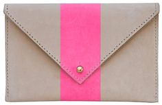 A shock of pink to keep your purse happy and bright -- plus, I have a small obsession with envelope clutches.