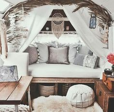 Love the curtains, baskets, etc... Basically, all of it.
