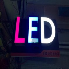 Factory Outlet Custom Outdoor Acrylic or stainless steel signage letter led Electronic Signs, Pvc Board, Outdoor Signage, Led Flood Lights, Led Module, Make Color, Brand Names, Stainless Steel