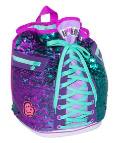 Another great find on #zulily! Purple & Aqua Sneaker Bag #zulilyfinds