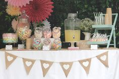 Ideas-Para-Organizar-Mesa-Dulce-De-Un-Cumpleanos party ideas Apps For Girls, Baby Shower Pictures, Girl Birthday, Birthday Parties, Sweet Corner, Wedding Favor Bags, Tropical Party, Ideas Para Fiestas, Party Kit