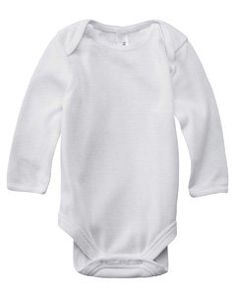 Bella Infant's 4.5 oz. Long-Sleeve Thermal One-Piece Onesie 103, White/white, 6-12 Months Bella. $6.27