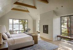 Contemporary shingle style house on the shores of Lake Washington