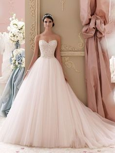 - Glamorous David Tutera Wedding Dresses for Your Perfect Attire- Need a glamorous wedding dress or gown, David Tutera wedding dresses and gowns will be the answer. High quality dresses and gowns will beautify you. 2015 Wedding Dresses, Wedding Gowns, Wedding Dresses Poofy, Dresses 2014, Blush Pink Wedding Dress, Blush Gown, Blush Bridal, White Bridal, Wedding Attire
