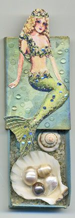 thistleglen.com: Mermaid Altered Matchbox