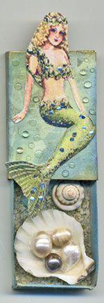 thistleglen.com: Mermaid Altered Matchbox